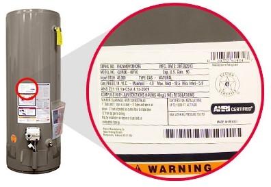 Rheem Water Heater Serial Number
