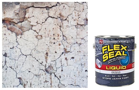 flex seal on concrete