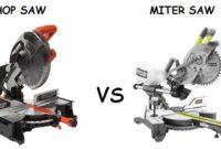Chop Saw vs Miter Saw