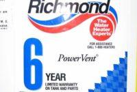 Richmond Water Heater Warranty