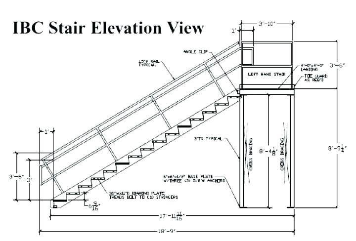 Minimum Stair Width IBC