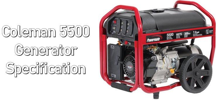 Coleman 5500 Generator Specification