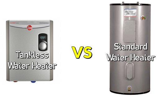 Tankless Water Heater vs Standard Water Heater