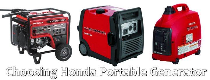 Choosing Honda Portable Generator