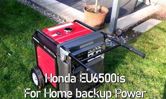 Honda EU6500is Generator for home backup power