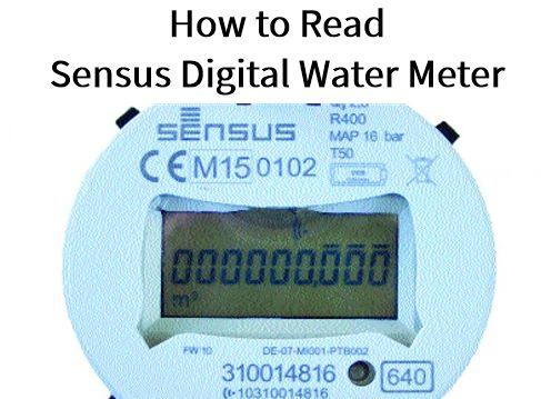 How to Read a Sensus Digital Water Meter