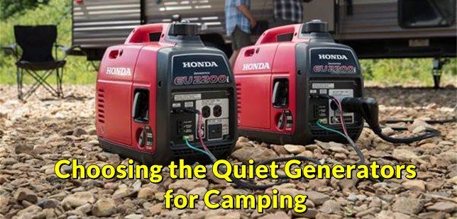 Quiet Generators for Camping