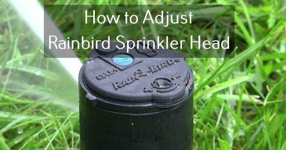 how to adjust a rainbird sprinkler head
