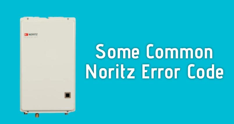 noritz error codes