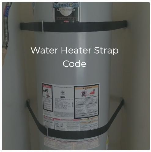 Water Heater Strap Code